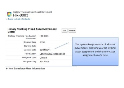 Historical Tracking of Asset Movements